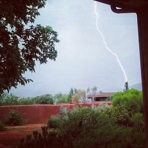 Watching a lightening storm